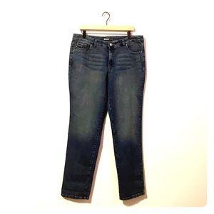 Style & Co straight leg tummy control denim